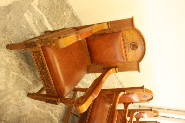 Council Chamber Desks Chairs and Armchairs, Italy, 1920 For Sale 4