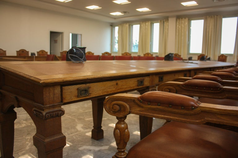 Council Chamber Desks Chairs and Armchairs, Italy, 1920 For Sale 6