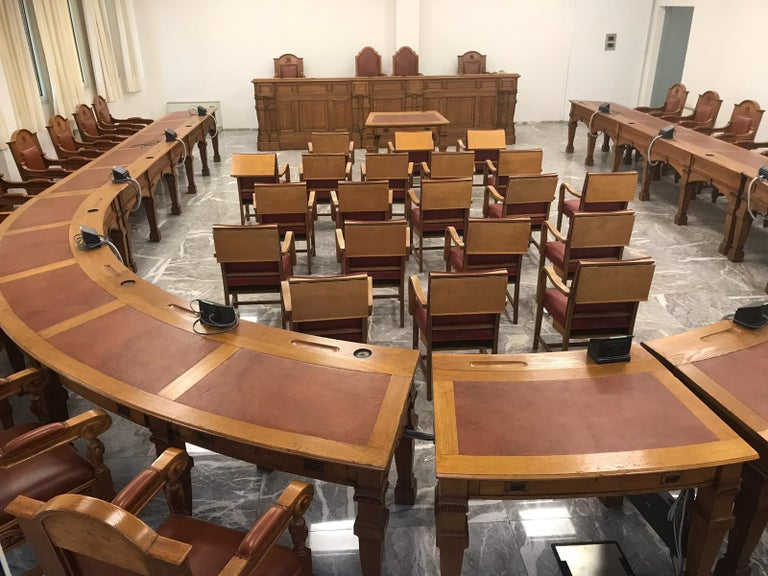 Council Chamber Desks Chairs and Armchairs, Italy, 1920 For Sale 7