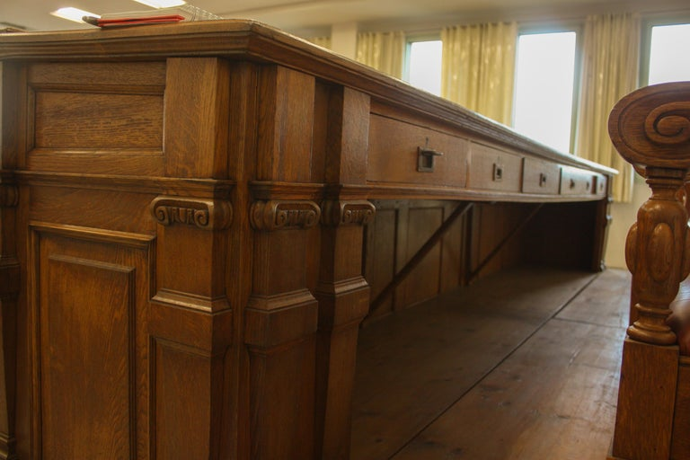 Council Chamber Desks Chairs and Armchairs, Italy, 1920 For Sale 8