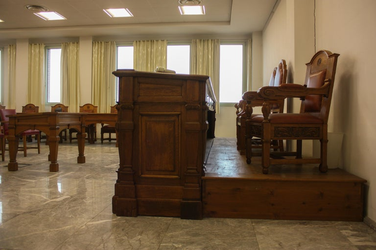 Council Chamber Desks Chairs and Armchairs, Italy, 1920 For Sale 13