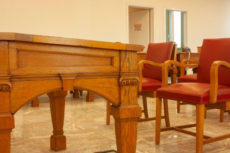 Council Chamber Desks Chairs and Armchairs, Italy, 1920 For Sale 2