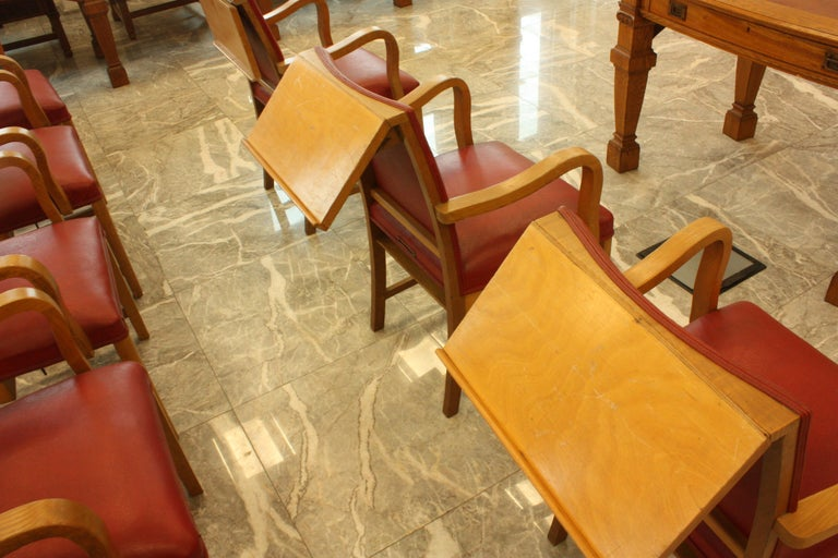 Council Chamber Desks Chairs and Armchairs, Italy, 1920 For Sale 3