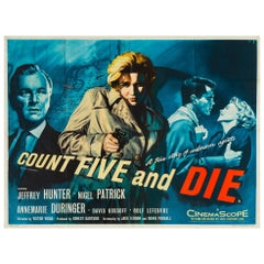 Count Five and Die Original British Film Poster, Chantrell, 1957