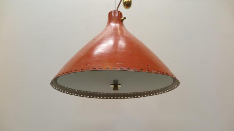 Mid-Century Modern Counter Balance Pendant Lamp Paavo Tynell For Sale