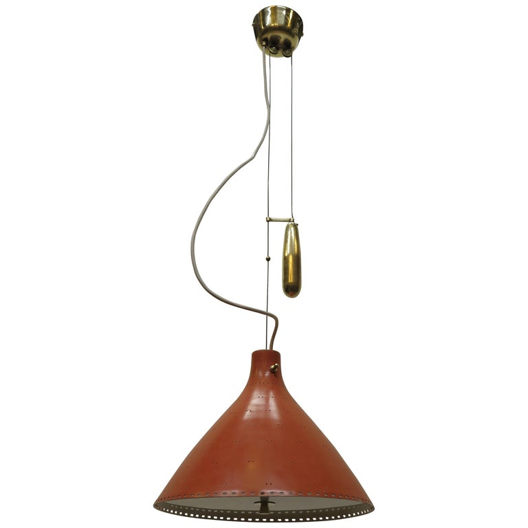 Counter Balance Pendant Lamp Paavo Tynell For Sale
