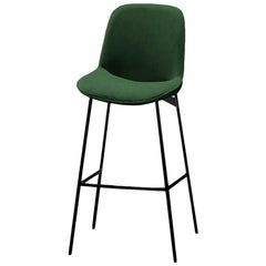 Counter Chair Chiado with Lacquered Metal and Upholstery New