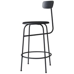 Counter Stool by Afteroom, Black Steel Frame, with Painted Wood Seats