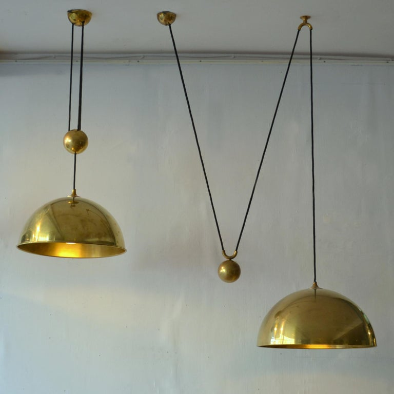 German Counterbalance Brass Pendant 'Posa' Centre Weight by Florian Schulz For Sale