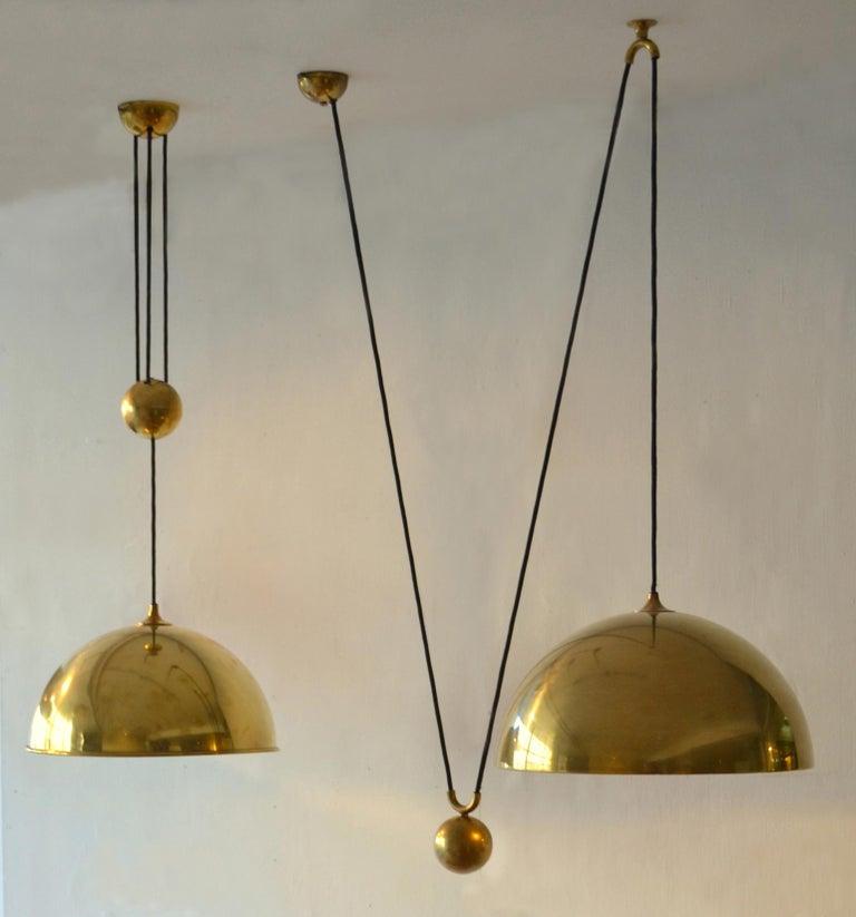 Spun Counterbalance Brass Pendant 'Posa' Centre Weight by Florian Schulz For Sale