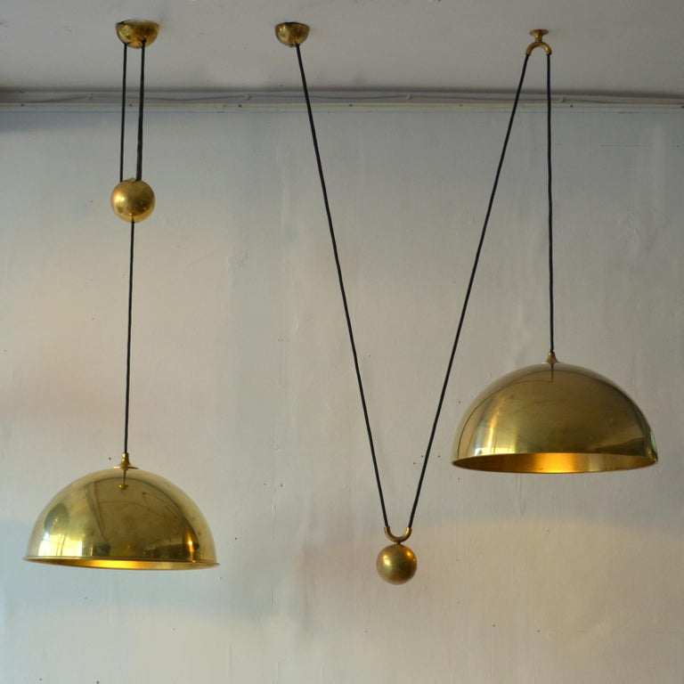 Counterbalance Brass Pendant 'Posa' Centre Weight by Florian Schulz In Excellent Condition For Sale In London, GB