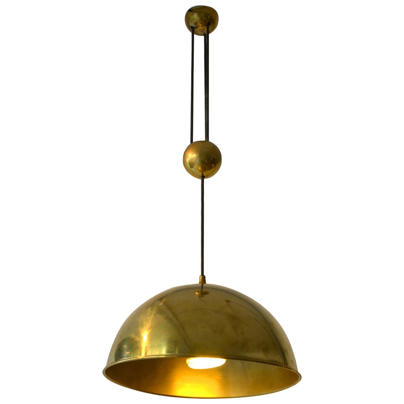 Counterbalance Brass Pendant 'Posa' Centre Weight by Florian Schulz
