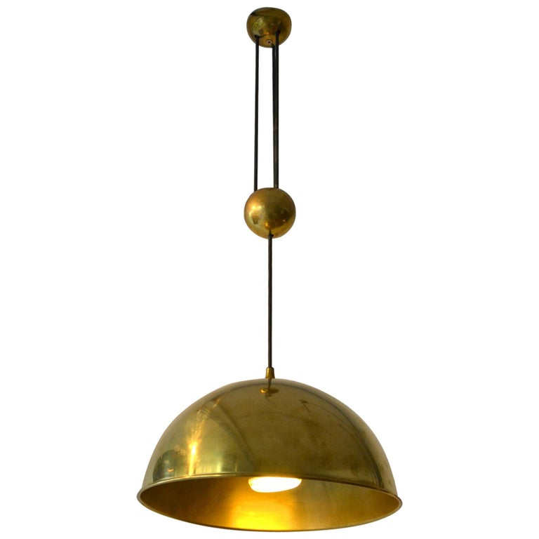 Counterbalance Brass Pendant 'Posa' Centre Weight by Florian Schulz For Sale