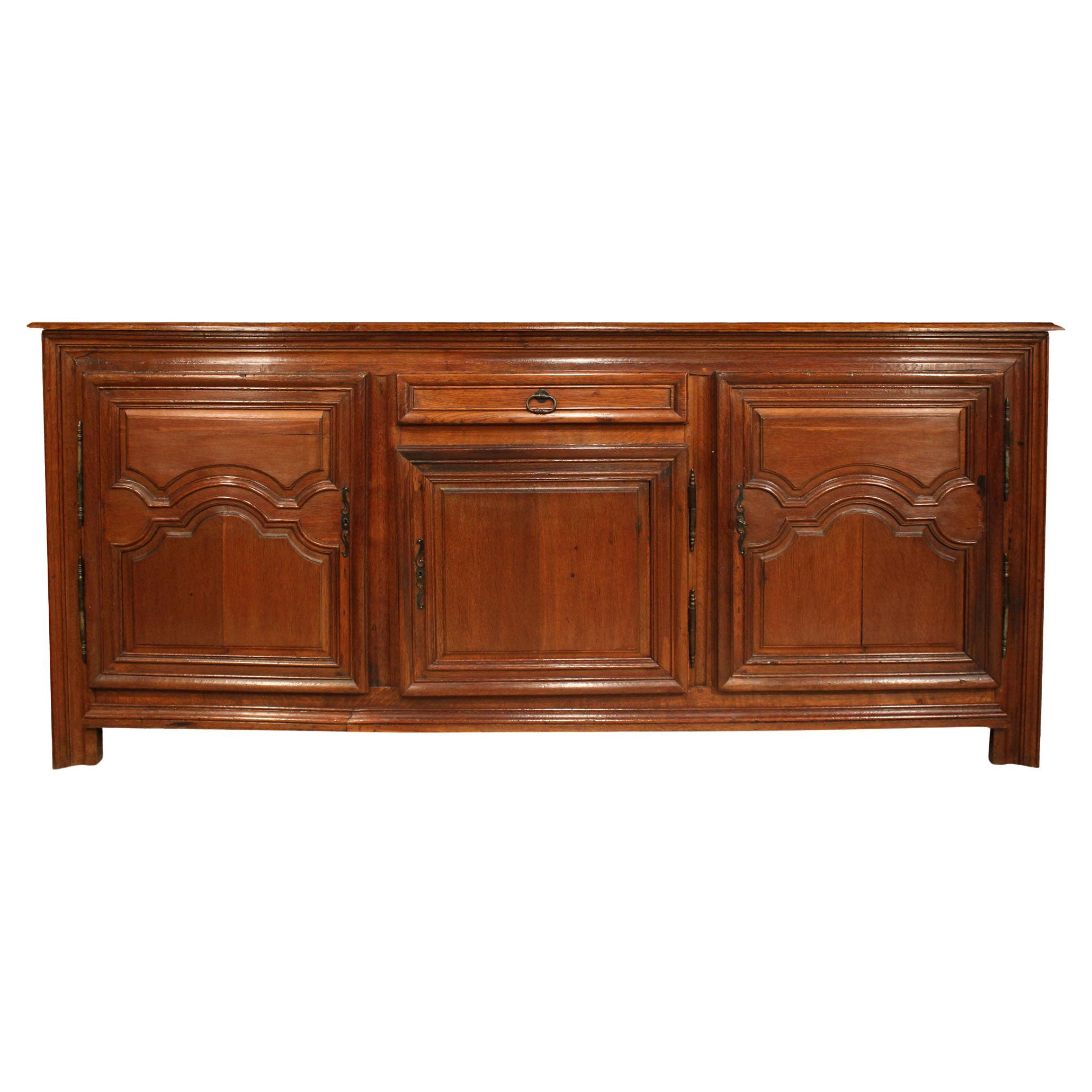 Country French 18th Century Honey Colored Oak Buffet