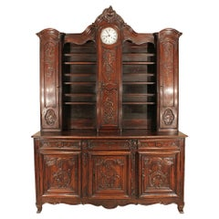 Country French 18th Century Louis XV Period Walnut Vaissellier