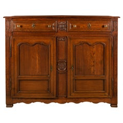 Country French 18th Century Louis XVI Period Oak Buffet