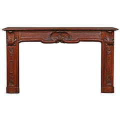 Country French 19th Century Louis XV Style Oak Mantel