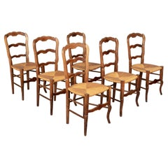 Country French Dining Chairs, Set of 6