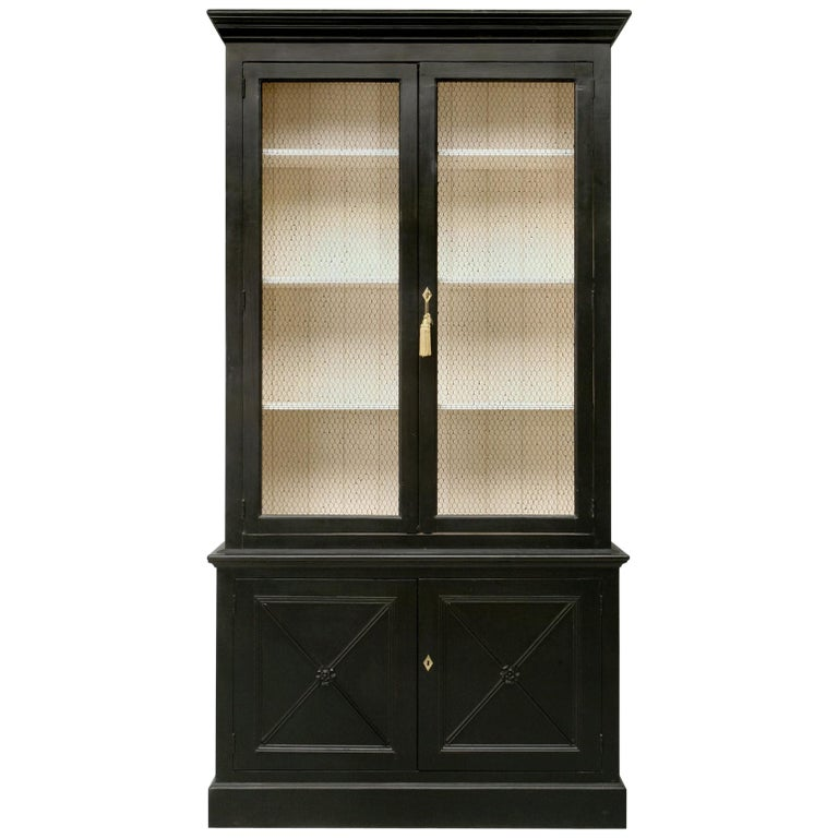Country French Directoire Style Bookcase Handmade in Any Dimension or Color For Sale