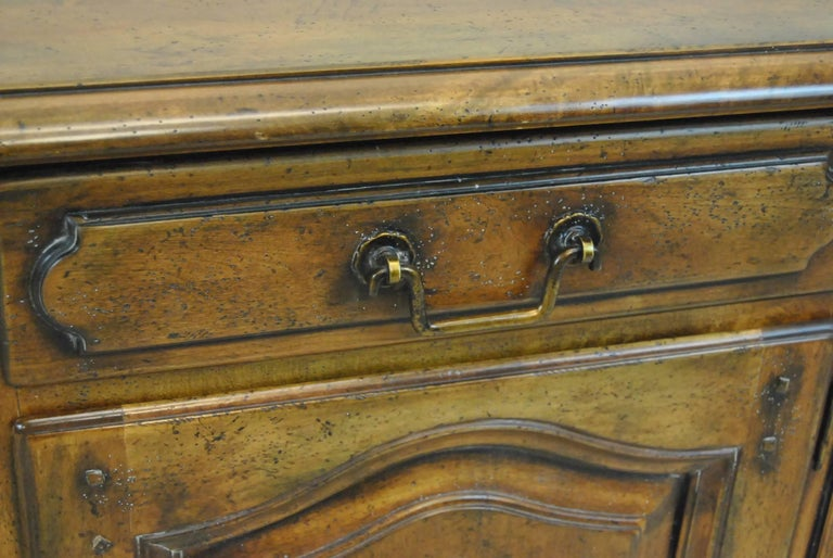 Country French Distressed Cherry Open Cupboard by Ralph Lauren In Good Condition For Sale In Toledo, OH
