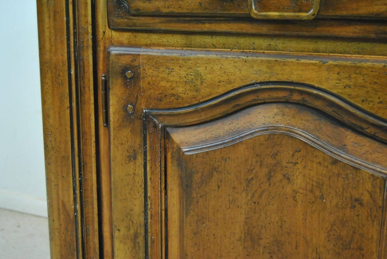 Late 20th Century Country French Distressed Cherry Open Cupboard by Ralph Lauren For Sale