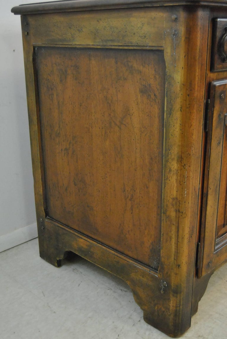 Country French Distressed Cherry Open Cupboard by Ralph Lauren For Sale 2