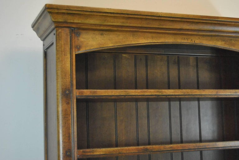 Country French Distressed Cherry Open Cupboard by Ralph Lauren For Sale 3
