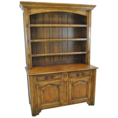 Country French Distressed Cherry Open Cupboard by Ralph Lauren