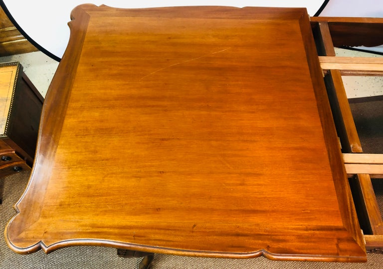Country French Extension Table Hand Carved For Sale 4
