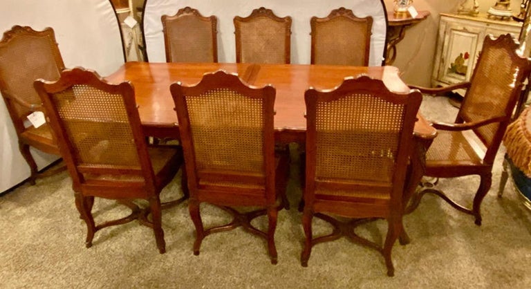 Country French Extension Table Hand Carved For Sale 10