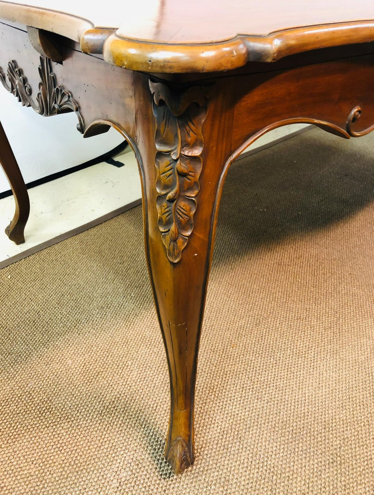 20th Century Country French Extension Table Hand Carved For Sale
