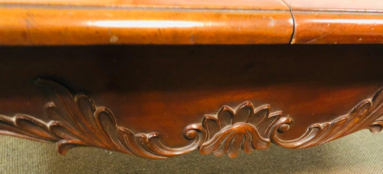 Wood Country French Extension Table Hand Carved For Sale