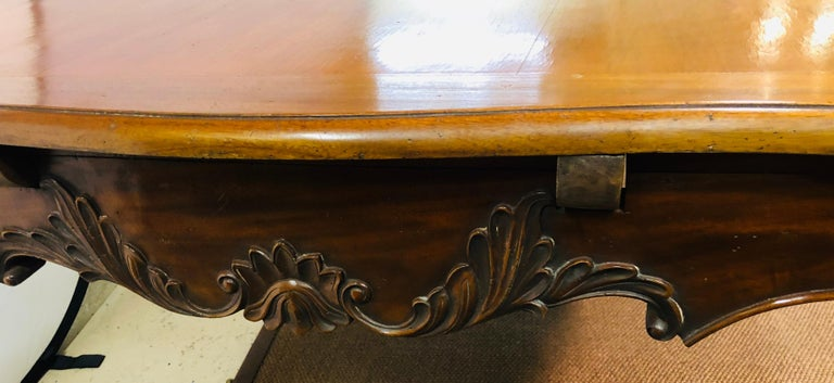 Country French Extension Table Hand Carved For Sale 2