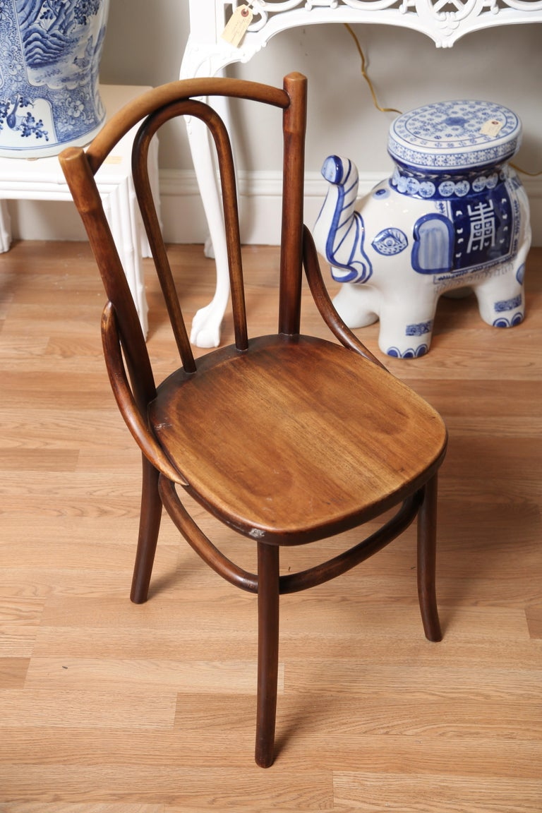 Country French Folding Campaign Table and Four Chairs For Sale 3