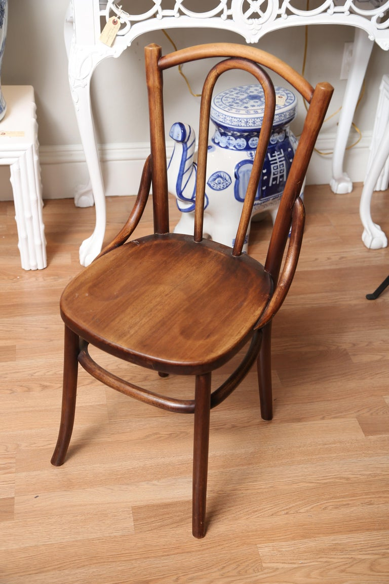 Country French Folding Campaign Table and Four Chairs For Sale 4