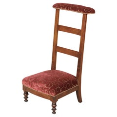 Country French Napoleon III Period Ladder Back Prie Dieu or Prayer Chair