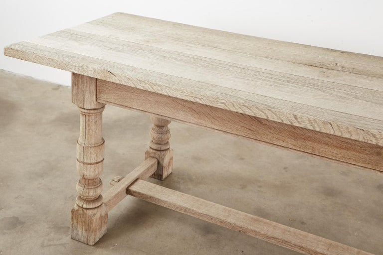 Country French Oak Farmhouse Trestle Dining Table For Sale 3
