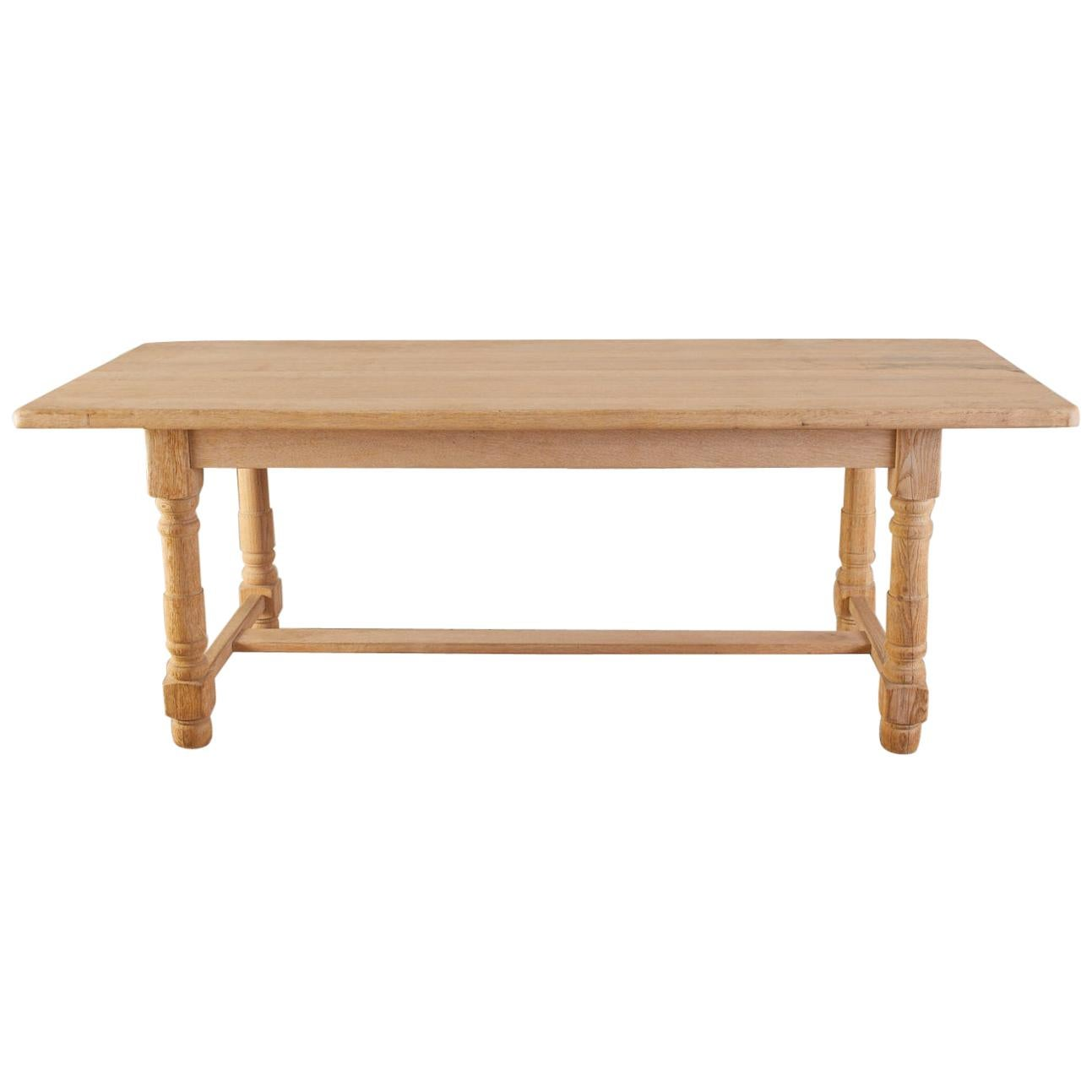 Country French Oak Farmhouse Trestle Dining Table