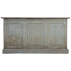 Country French Painted Bakery or Patisserie Store Counter or Kitchen Island