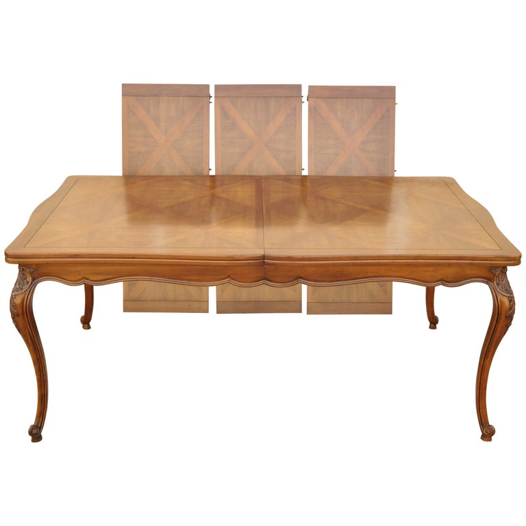 Country French Provincial Louis Xv Parquetry Inlay Walnut