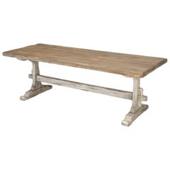 Country French Trestle Dining Table, Completely Restored