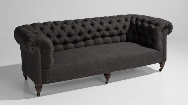 Country house chesterfield sofa, England, circa 1890.