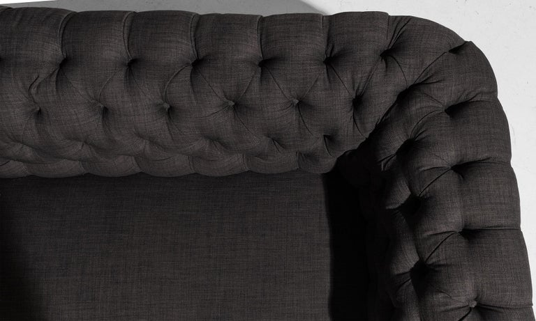 Turned Country House Chesterfield Sofa, England, circa 1890 For Sale