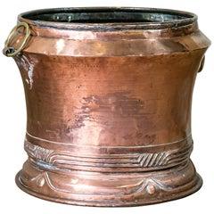 Country House Copper Log Bin