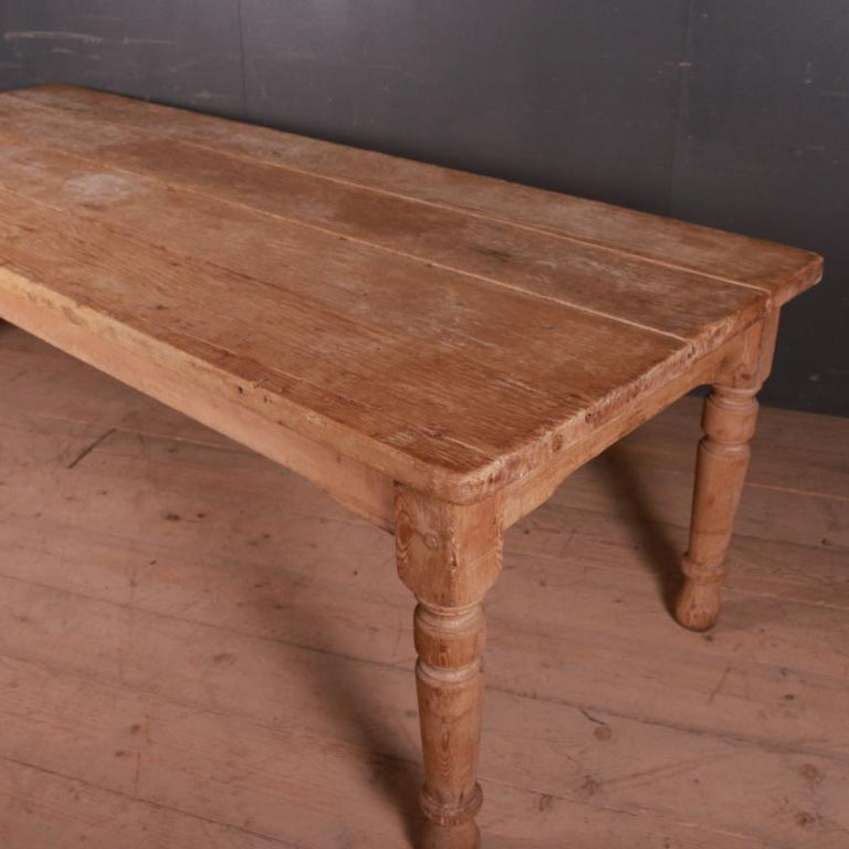 19th Century Country House Kitchen Table For Sale