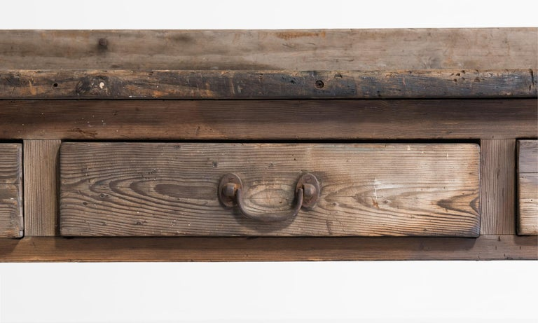 Country House Prep Table, England, circa 1849 In Good Condition For Sale In Culver City, CA