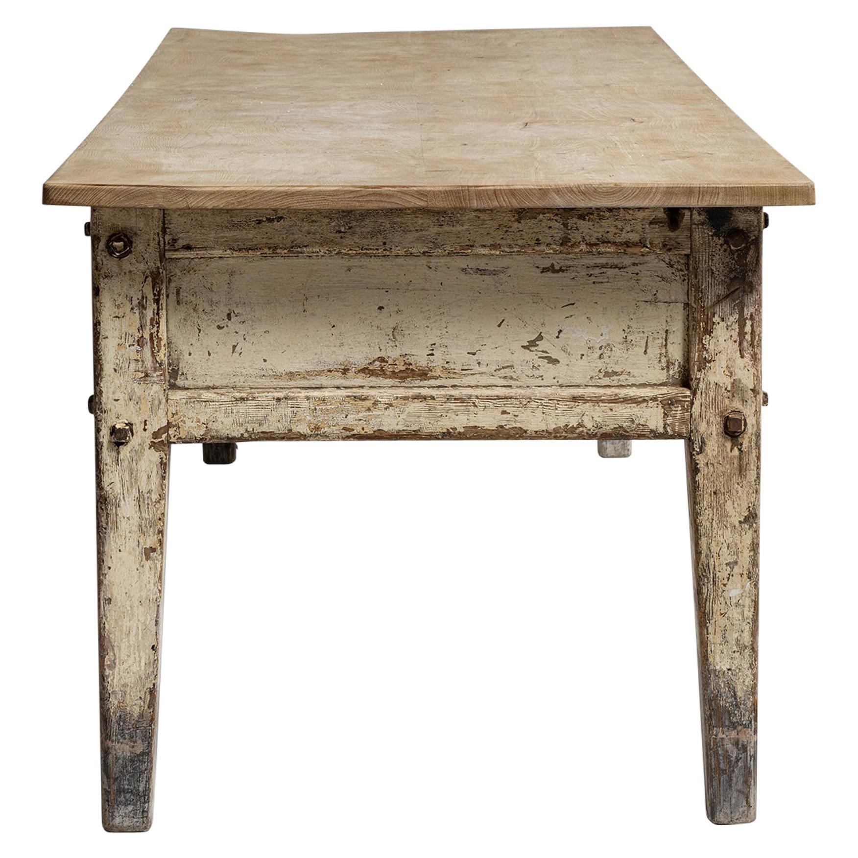 Country House Prep Table, England, Circa 1850