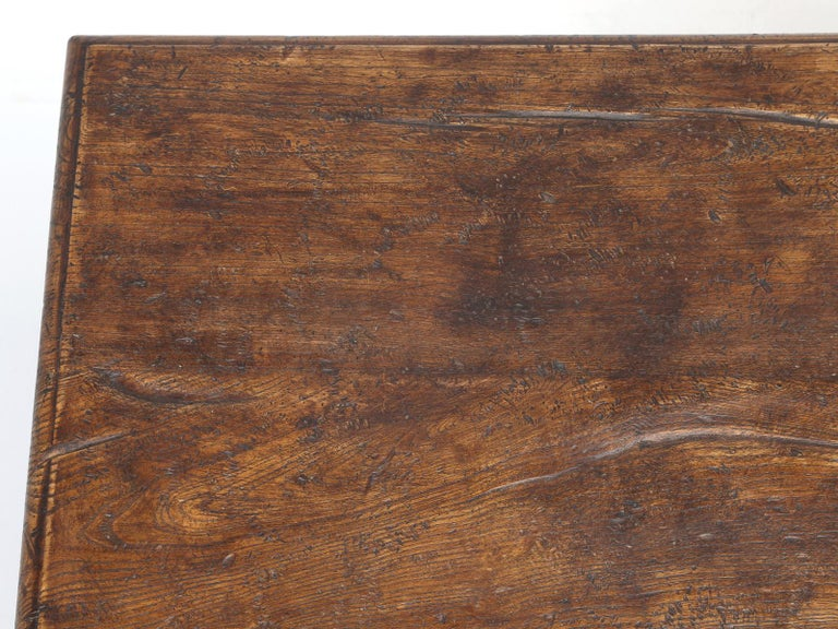 Mid-20th Century Country Italian Farm Table, Constructed from Solid Elm, Restored For Sale