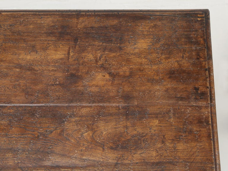 Country Italian Farm Table, Constructed from Solid Elm, Restored For Sale 4