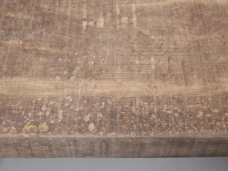 Country Italian Massive Size Dining Table Still in its Original Rustic Finish For Sale 4